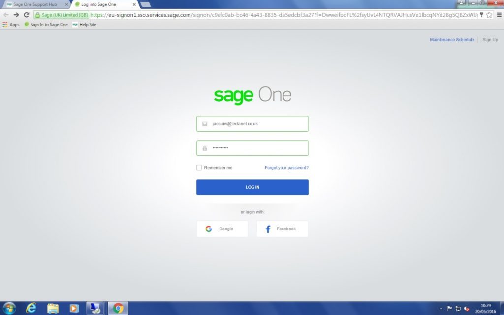 sage password guide image 2